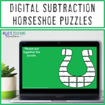 St Patricks Day Math Centers, St Patricks Day Math Game Subtraction Horseshoes