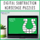 SUBTRACTION Horseshoe St Patricks Day Math Centers, Games, or Activities