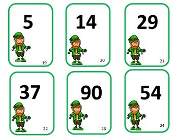 St. Patrick's Day Math Centers - Tubs