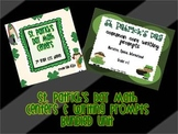 St. Patrick's Day Math Centers and Writing Prompts BUNDLE