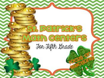 St Patrick's Day Math Centers for Fifth Grade