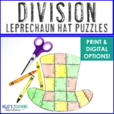 St Patricks Day Math Centers or Games | FUN Division Lepre