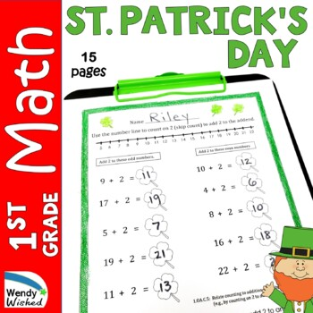 March St. Patrick's Day Math CCSS First Grade Just Print I