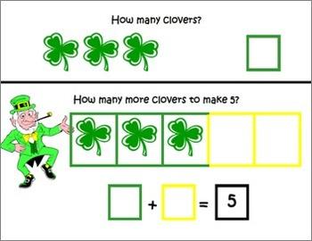 St. Patrick's Day ~ Math Common Core Mats ~ Making 10 and 5 ~ Math Center