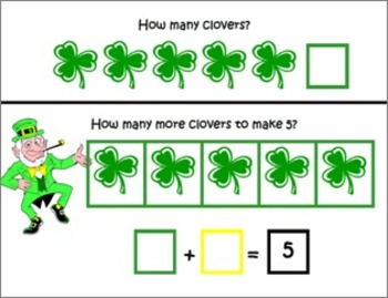 St. Patrick's Day ~ Math Common Core Mats ~ Making 10 and 5 ~ Math Center