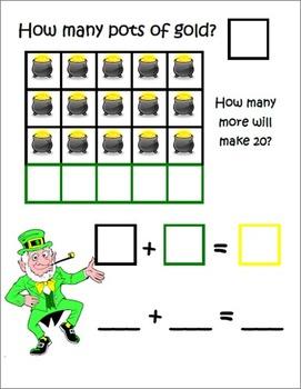 St. Patrick's Day ~ Math Common Core Mats ~ Making 20 ~ Math Center