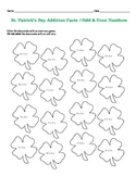 St. Patrick's Day Math Facts / Odd & Even Numbers Worksheets