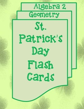 St. Patrick's Day Math Flash Cards
