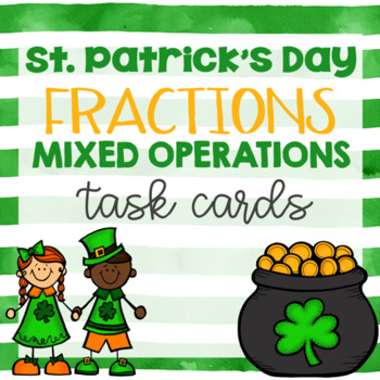 St. Patrick's Day Math- Fraction Task Cards