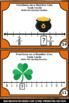 Fractions on a Number Line Task Cards St. Patrick's Day Ma