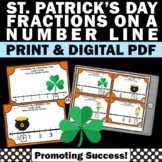 St. Patrick's Day Math Center Activities, Fractions on a Number Line Task Cards