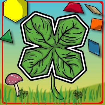 St. Patrick's Day Math Freebie - Four-Leaf Clover Pattern Block Puzzle!