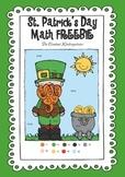 St. Patrick's Day Math Freebie - Kindergarten and 1st Grade!