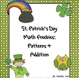St. Patrick's Day Kindergarten Math | St. Patrick's Day First Grade Math FREE