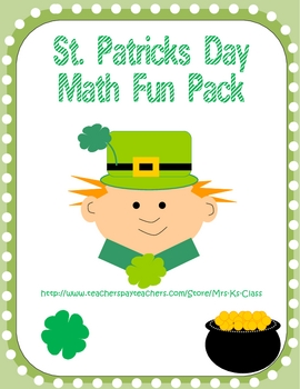 St Patricks Day Math Fun Pack - Math Centers and Games