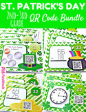 St. Patrick's Day Math Fun QR Code Task Card Bundle (2nd-3