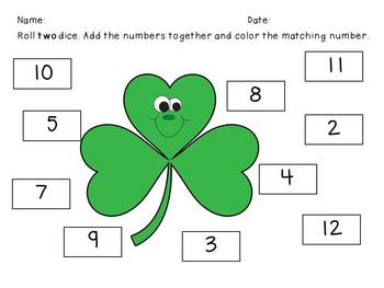St. Patrick's Day Math Fun combo pack