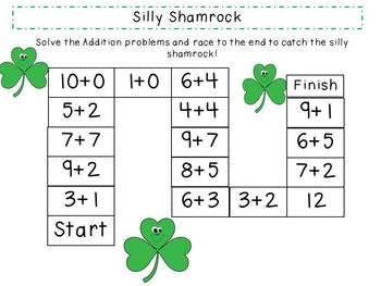 St. Patrick's Day Math Fun combo pack