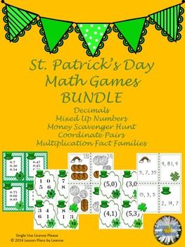 St. Patrick's Day Math Games BUNDLE
