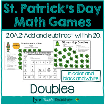 St. Patrick's Day Math Games - Doubles