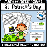 St Patricks Day Math Games Fraction and Decimal Review Math Mystery