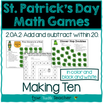 St. Patrick's Day Math Games - Making Ten