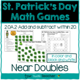 St. Patrick's Day Math Games - Near Doubles (Doubles Plus 1 or Doubles Minus 1)