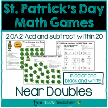 St. Patrick's Day Math Games - Near Doubles (Doubles Plus 1 or Doubles Minus 1)