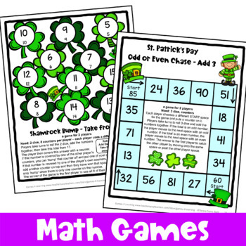 St. Patrick's Day Activity: St. Patrick's Day Math Games, Puzzles, Brain Teasers