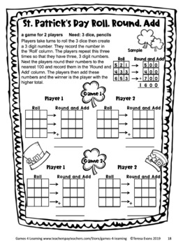 St. Patrick's Day Activity: St. Patrick's Day Math Games Third Grade