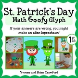 St. Patrick's Day Math Goofy Glyph (1st grade Common Core)