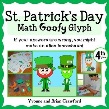St. Patrick's Day Math Goofy Glyph (4th grade Common Core)