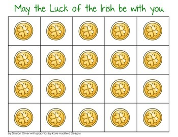 St. Patrick's Day Math Grid Games