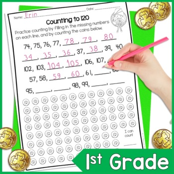 St. Patrick's Day Math Worksheets for First Grade