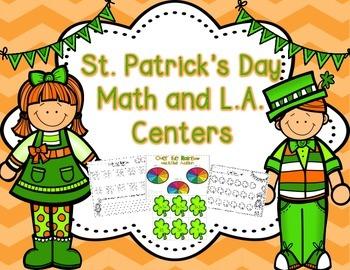 St. Patrick's Day Math & Language Arts Centers {Common Cor