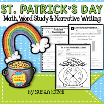 St. Patrick's Day Multi-Meaning Words, Math Story Problems & 2 Narrative Prompts
