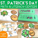 St. Patrick's Day Centers: Math and Literacy Activities - Kindergarten