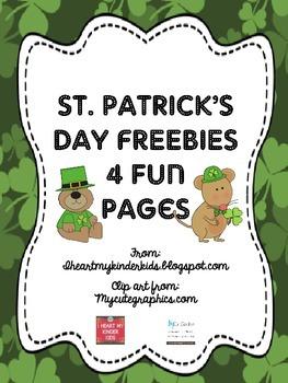 St Patrick's Day Math & Literacy FREEBIE