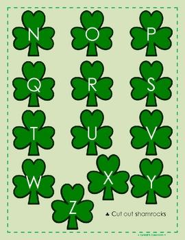 St. Patrick's Day Math & Literacy File Folder Games