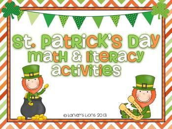 St. Patrick's Day Math & Literacy Pack