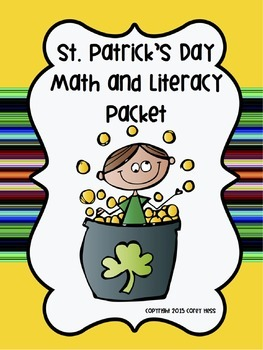 St. Patrick's Day Math & Literacy Packet for K & 1