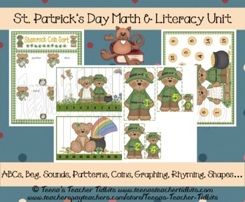 St. Patrick's Day Math & Literacy Preschool ~ Kindergarten Unit