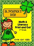 St. Patrick's Day Math & Literacy Print & Go {2nd Grade CCSS}