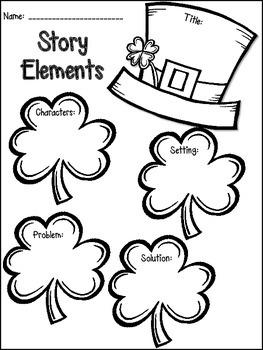 St. Patrick's Day Math & Literacy Print & Go {2nd Grade CCSS}