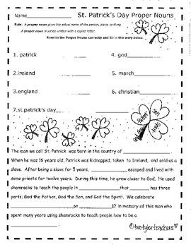 St. Patrick's Day Math & Literacy Unit