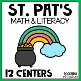 St. Patrick's Day's Centers: Math & Literacy Activities Kindergarten BUNDLE