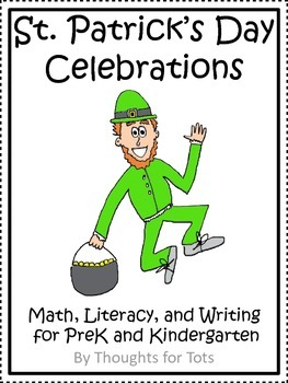 St. Patrick's Day Math, Literacy, and Writing, PreK and Kindergarten