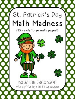 St. Patrick's Day Math Madness {15 ready to go worksheets!}