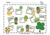 St. Patrick's Day Math Mat ~ Roll and Cover (or) Color Game, Addition