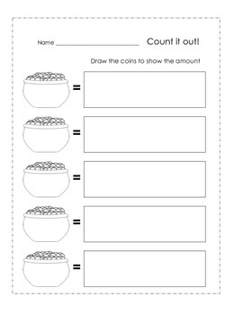 St. Patrick's Day Math Money Cards (Common Core Aligned) First Grade